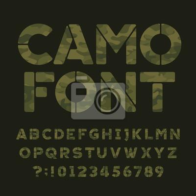 Каменный алфавит. Введите буквы и цифры на темно-зеленом фоне. Векторная типография для вашего дизайна.