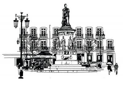 Картина квадрат Камоэнса в Лиссабоне