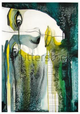 Картина акварельный портрет красивой девушки | ручная работа | самодельные | картина