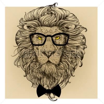 Картина портрет персонажа льва