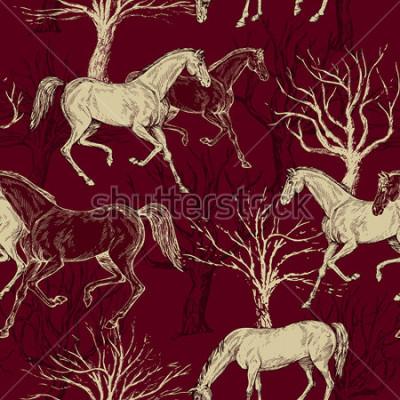 Картина Ретро бесшовные модели, декоративные ткани, обои для фэнтези, вектор для украшения и дизайна