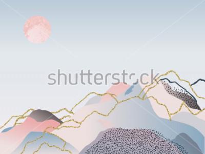 Картина Абстрактный минимальный фон. Скандинавский дизайн.Векторная иллюстрация