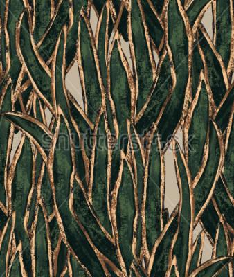 Картина обои ручной работы с водорослями. Изолированные на белом фоне. тропические иллюстрации для текстиля и дизайна поверхности