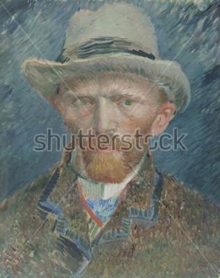 Картина Автопортрет. Автор Винсент Ван Гог, 1887, голландская живопись. Он изобразил себя здесь как модно одетый парижанин