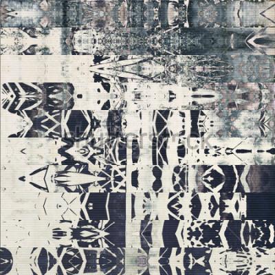 Картина абстрактные геометрические горизонтальные полосы узор, бумага текстурированный монохромный фон белый, черный и синий серый цвет; вертикальный бесшовный орнамент