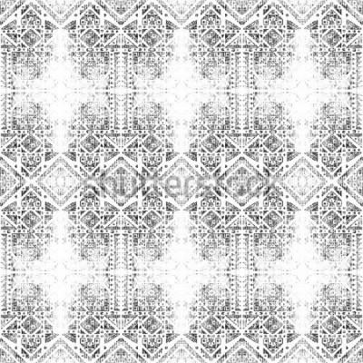Картина Племенной бесшовные модели. Ручная роспись акварель текстуры. Абстрактный лазер-фон