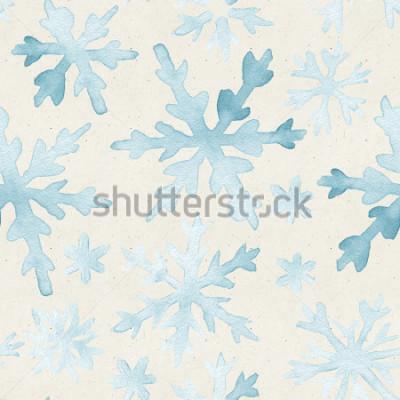 Картина Бесшовные акварель на текстуру бумаги. Рождественский фон