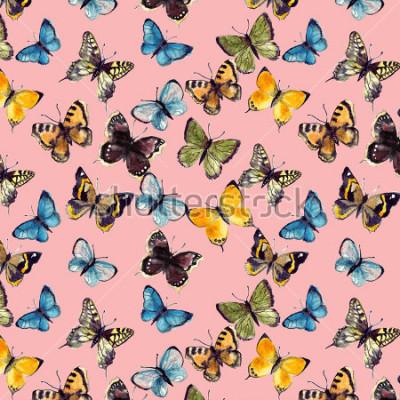 Картина акварель бабочка