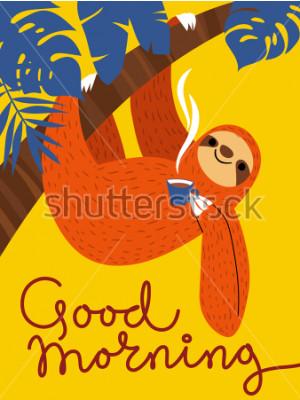 Картина Чашка кофе. Доброе утро, постер.