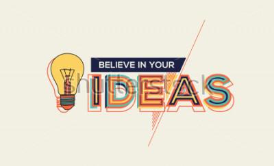 Картина Идея. Современный дизайн типографии в геометрическом стиле. Креативный дизайн для вашей настенной графики, реклама, веб-дизайн и графика офисных помещений.