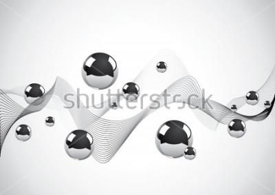 Картина Абстрактный фон из набора металлических шариков