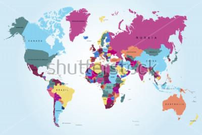 Картина Политическая карта мира