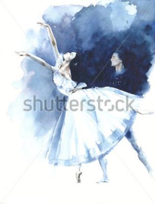 Картина Балерина танцует балерина Жизель акварельная живопись иллюстрация открытка