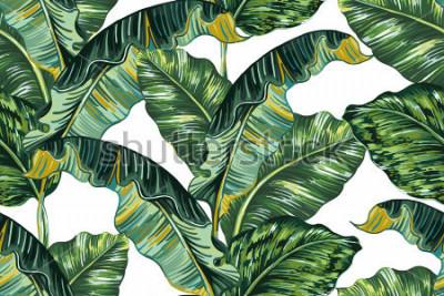 Картина Тропические пальмы, листья джунглей