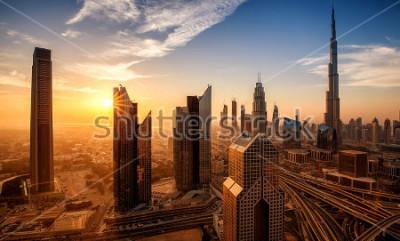Картина Дубай на рассвете