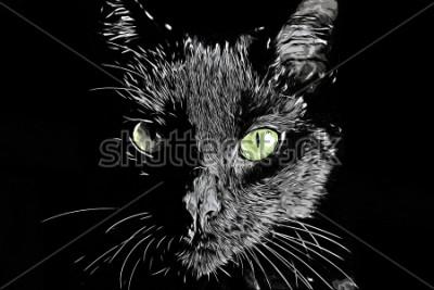 Картина Черно-белое растровое реалистичное нарисованное от руки изображение в виде блокнота