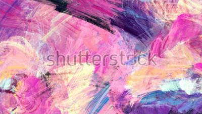 Картина Яркие художественные брызги. Абстрактная живопись цвет текстуры. Современный футуристический узор. Многоцветный динамический фон. Фрактальная работа для творческого графического дизайна.