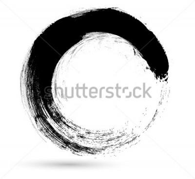 Картина Кисть инсульта. Шаблон дизайна логотипа вектор. Вихрь Гранж Формы.