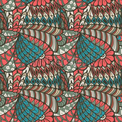 Картина Абстрактная безшовная картина в стиле doodle. Векторная иллюстрация