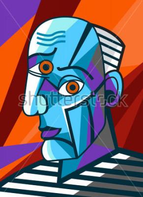 Картина кубист великий художник лицо портретная живопись