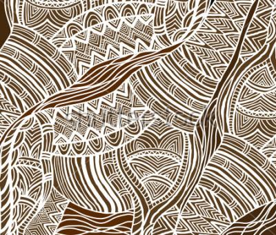 Картина Африканское происхождение в этническом стиле ручной росписью