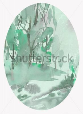 Картина пейзажная акварель