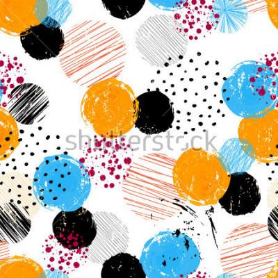 Картина фоновый узор с кругами / точками, штрихами и брызгами