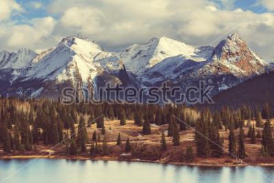 Картина Ландшафт горы в Колорадо Скалистых горах, Колорадо, Соединенных Штатах.