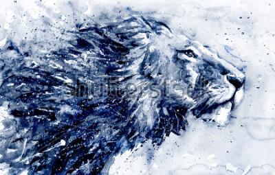 Картина Lion 3 black&white