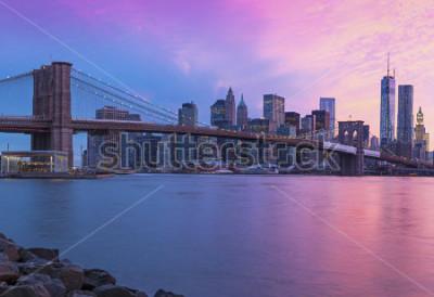 Картина New York City Manhattan panorama at sunset