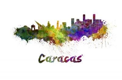 Картина Caracas горизонта в акварели