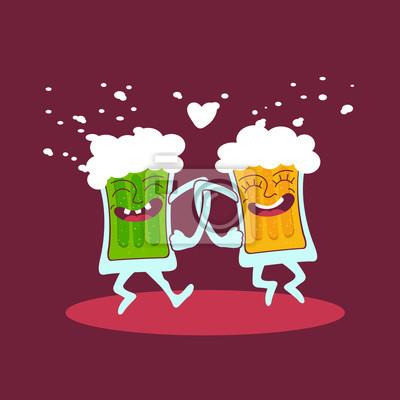 Мультфильм пару пива друзей танцы.