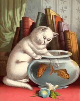кошка рыбалка