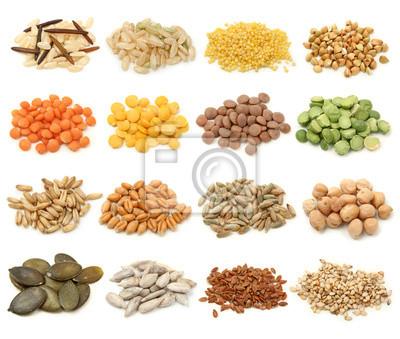 Зерновые, зерна и семян коллекция
