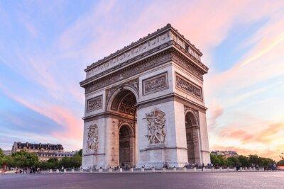Картина Champs-Elysees на закате в Париже