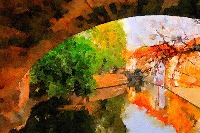 Картина Карлов мост в Праге