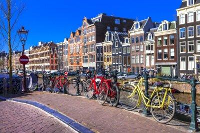 Картина Очаровательная Амстердам. Каналы и велосипеды
