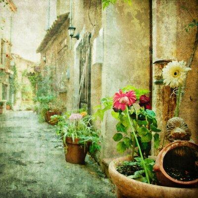 Картина очаровательные дворы, ретро стиле картина
