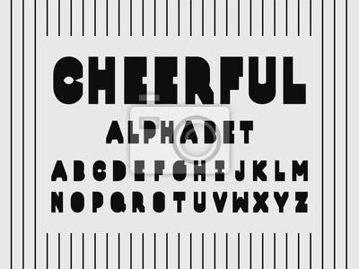 Cheerful font. Vector alphabet