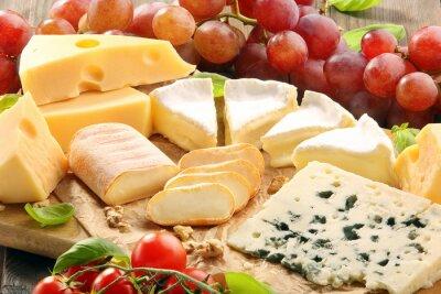 Картина Сыр доска - различные виды состава сыра