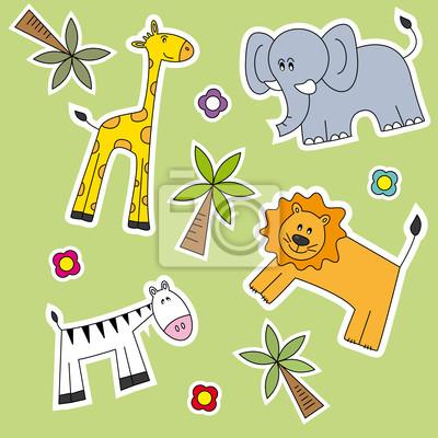 Fondo Infantil де Animales salvajes