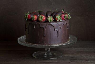 Картина шоколадный торт