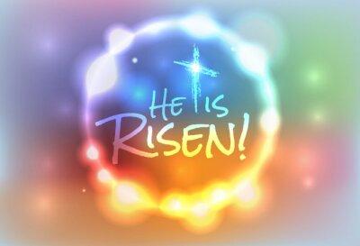 Картина Христианская Пасха Воскрес Иллюстрация