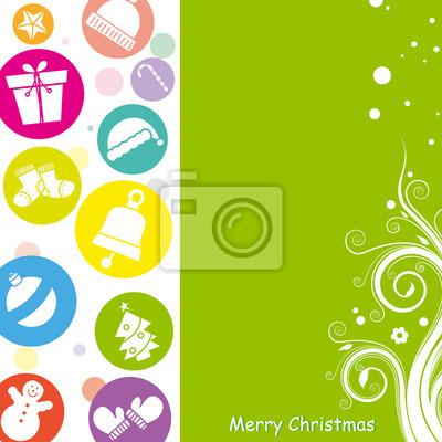 Рождественская открытка. Место для текста или фото