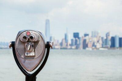 Картина Городской Нью-Йорке с бинокль