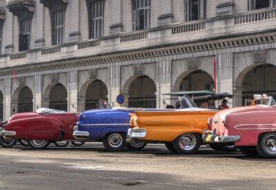 Картина Классические американские автомобили в Гаване, Куба