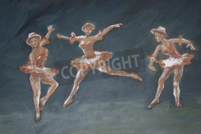 Картина классический женский балерин искусства иллюстрации