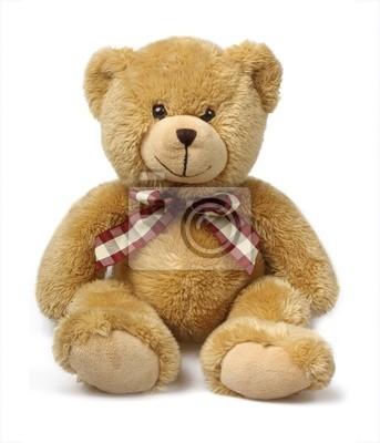 Классический Teddybear на белом фоне