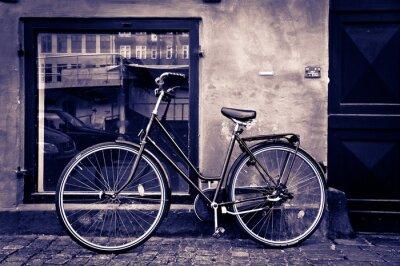 Картина Классический старинные ретро городской велосипед в Копенгагене, Дания