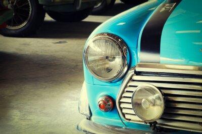 Картина Закрыть вверх Фронт мягкий зеленый старинных автомобилей